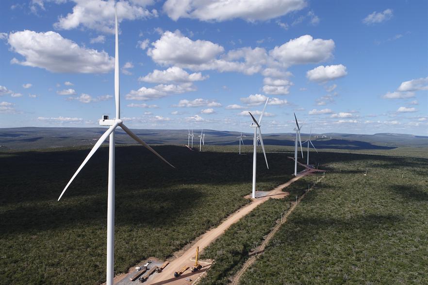 Engie's Campo Largo 2 wind farm consists of 86 of Vestas' V150-4.0/4.2 wind turbines
