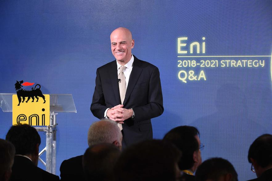 Eni's CEO Claudio Descalzi presented the company's 2018-2021 strategy in London