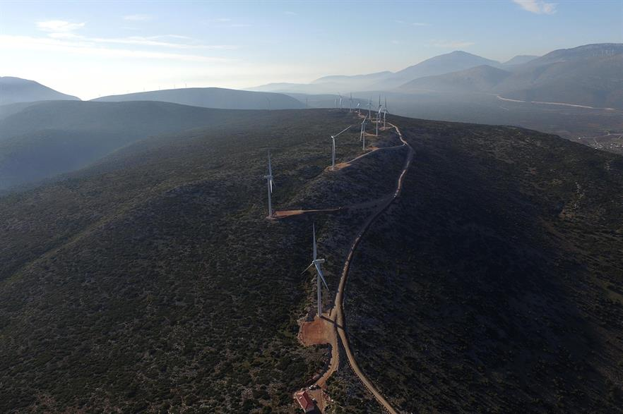 Greece has a little under 3GW of wind capacity installed, according to Windpower Intelligence (pic: Eren)