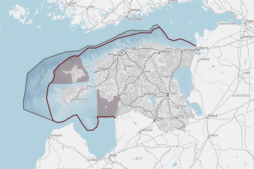 The Saaremaa site is within one of the approved zones for offshore wind development in Estonia's draft maritime spatial plan (above)