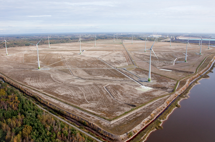 Enefit's Narva Windpark consists of 17 wind turbines with a total capacity of 39MW