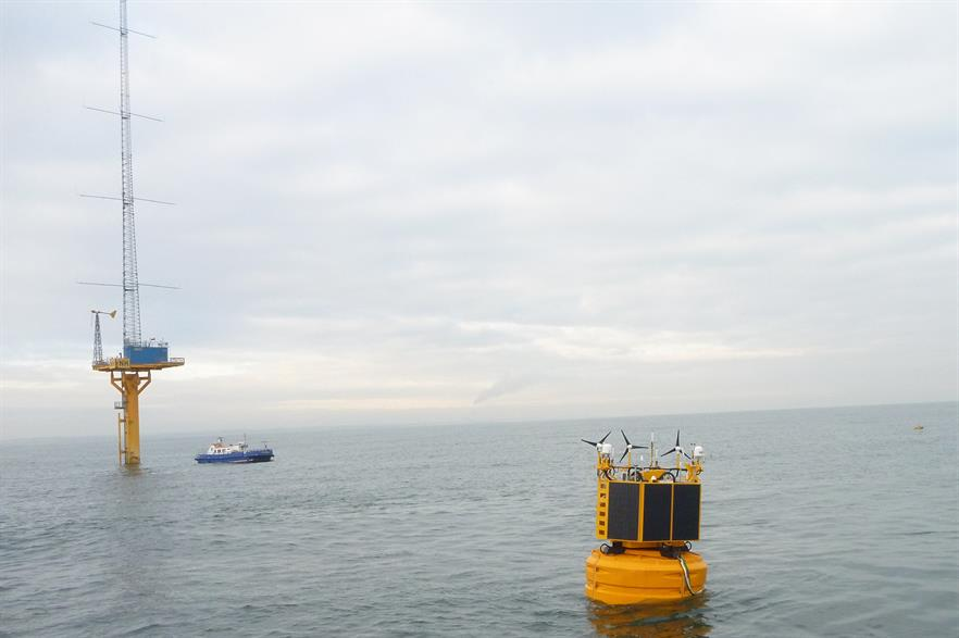 Flidar's floating lidar off the UK coast: Axys acquired Flidar from 3E in September