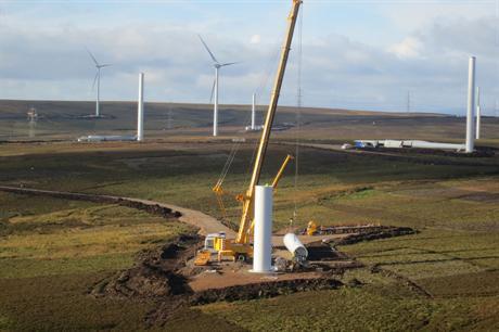 The 144MW Fallago Rig wind farm in Scotland came online last year