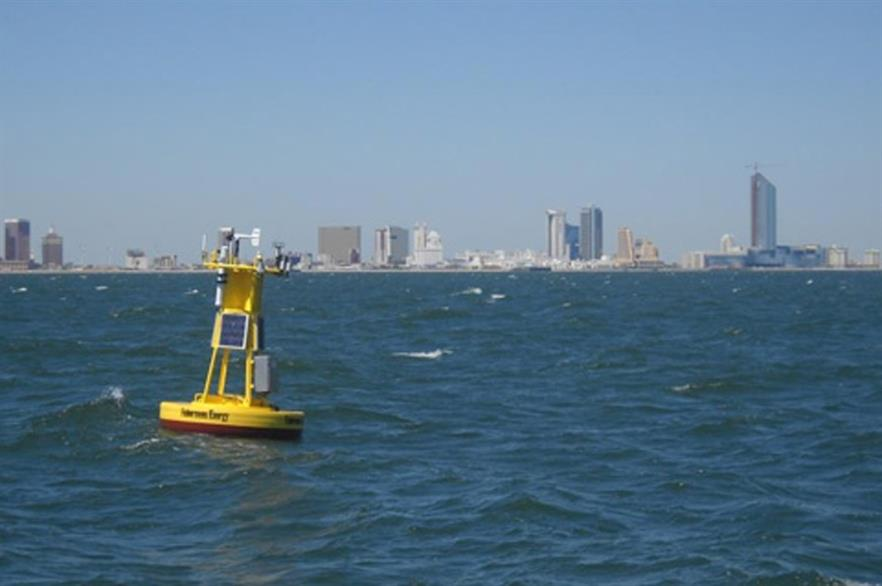 Fishermen's met buoy off the Atlantic City coast