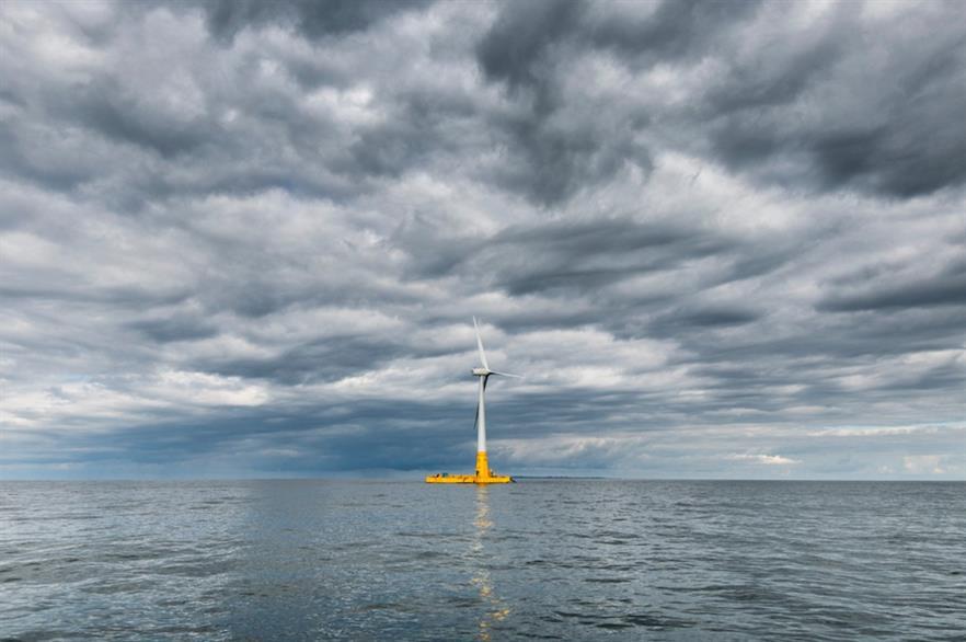 Ideol's first Floatgen demonstrator in the Atlantic Ocean (pic credit: Ideol and V.Joncheray)