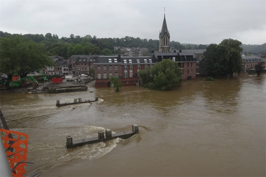 Flooding in Ourthe Valley, Belgium this summer (pic credit: Régine Fabri/Wikimedia Commons)