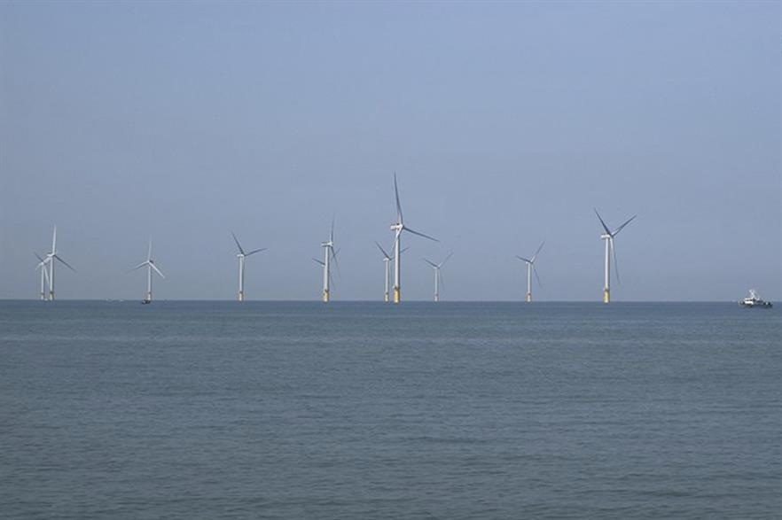Taiwan's first large-scale offshore wind farm, the 120MW Formosa 1 Phase 2 (pic credit: Siemens Gamesa)