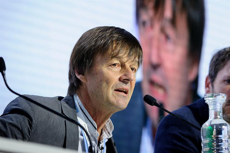 French energy minister Nicolas Hulot