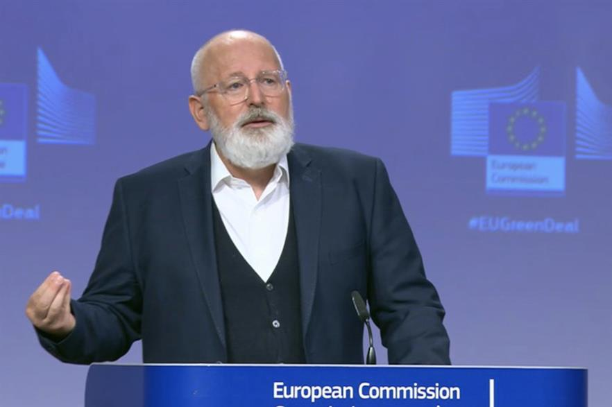 The EU's executive vice-president for the Green Deal, Frans Timmermans unveiling the Hydrogen Strategy (pic credit: Hydrogen Europe)