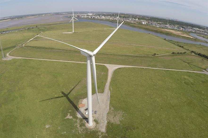 Most onshore wind projects are currently barred from competing in UK auctions (pic credit: Peel Energy)