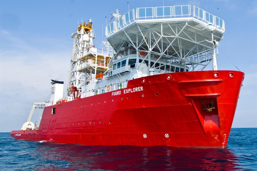 Fugro deployed its Explorer vessel to survey sites off north-east US coast