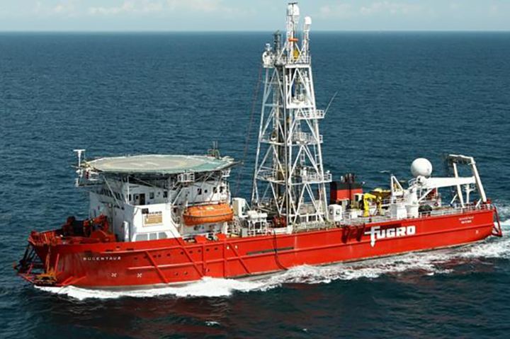 Fugro's Bucentaur vessel was one of two to carry out the surveys