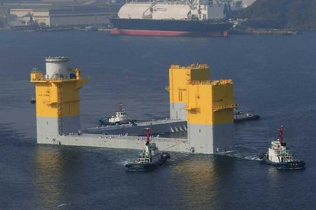 The floating platform was completed in June