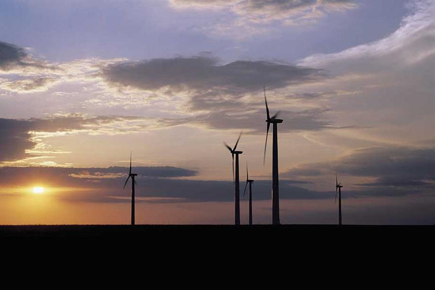 Onshore wind… The switch to competitive tendering in many countries has lowered the levelised cost of energy for wind projects and, with it, for hardware to build them (pic: GE)