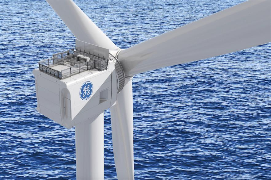 GE's Haliade-X will have a 220-metre rotor, 107-metre blades, a tip height of 269 metres and a nameplate rating of 12MW