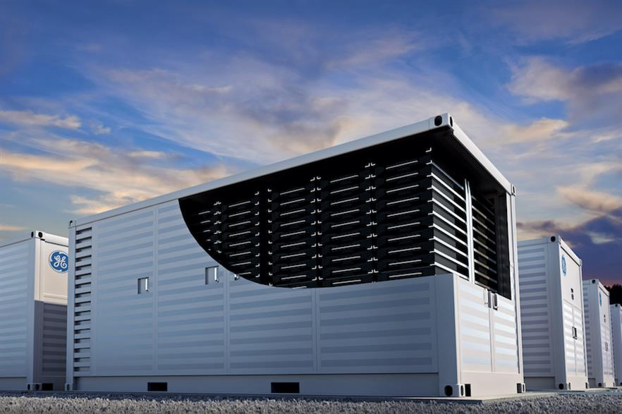 The first product of GE's new energy storage platform is the 1.2MW, 4MWh Reservoir Storage Unit