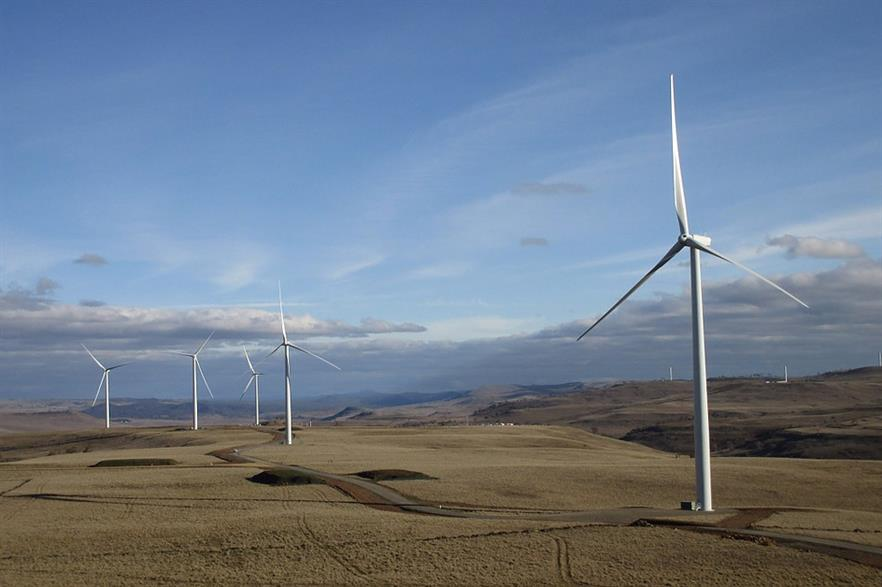 The project will include 87 1.7MW turbines (seen here at Boco Rock in New South Wales, Australia)