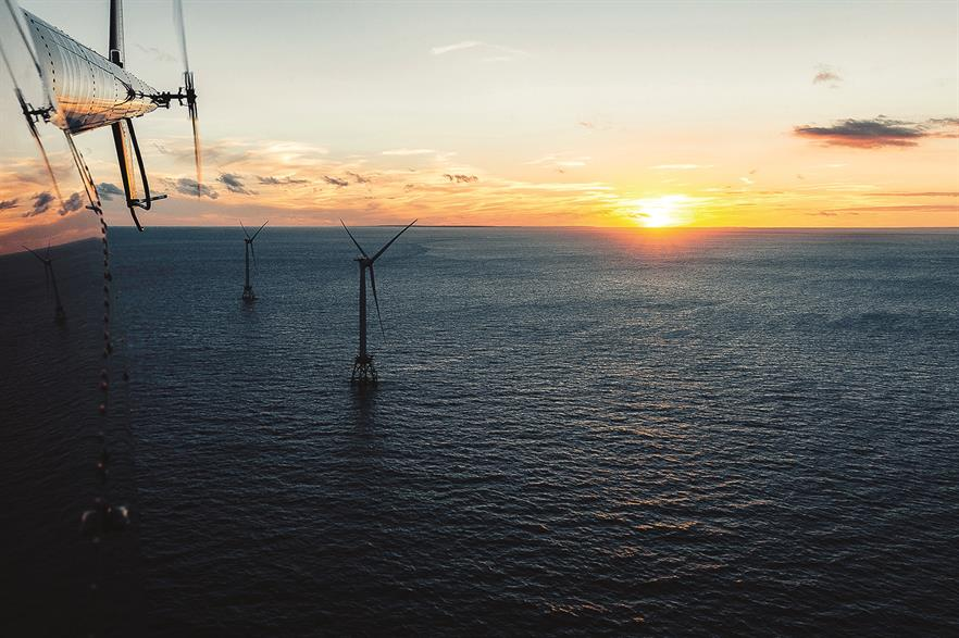The US' first offshore wind project, Block Island (Pic: GE Renewable Energy / Humza Deas)
