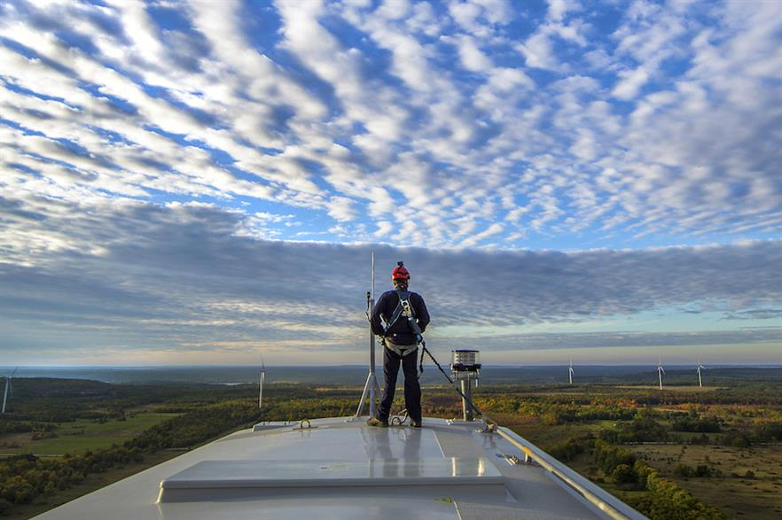 Predix enables wind power technicians to be made aware of issues with turbines remotely (pic credit: GE)