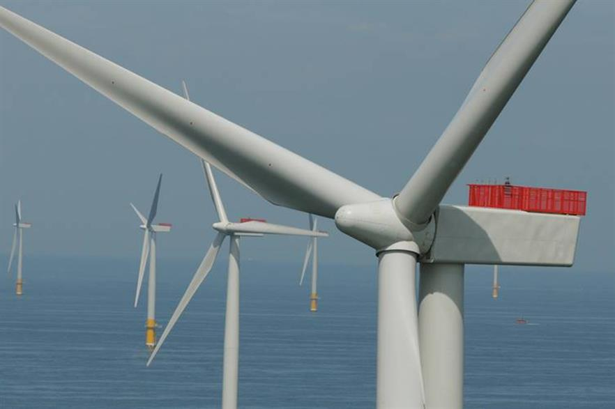 SSE's offshore wind assets include the Greater Gabbard project off the south-east coast of England