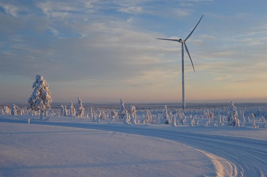 The Kokkoneva wind farm is being constructed in Finland's Siikalatva region (pic: Greencoat)