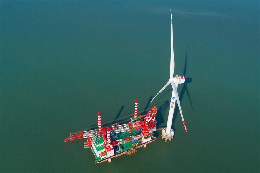 China installed more than 3GW of offshore capacity in 2020, the same amount as all of Europe combined (pic: Goldwind)