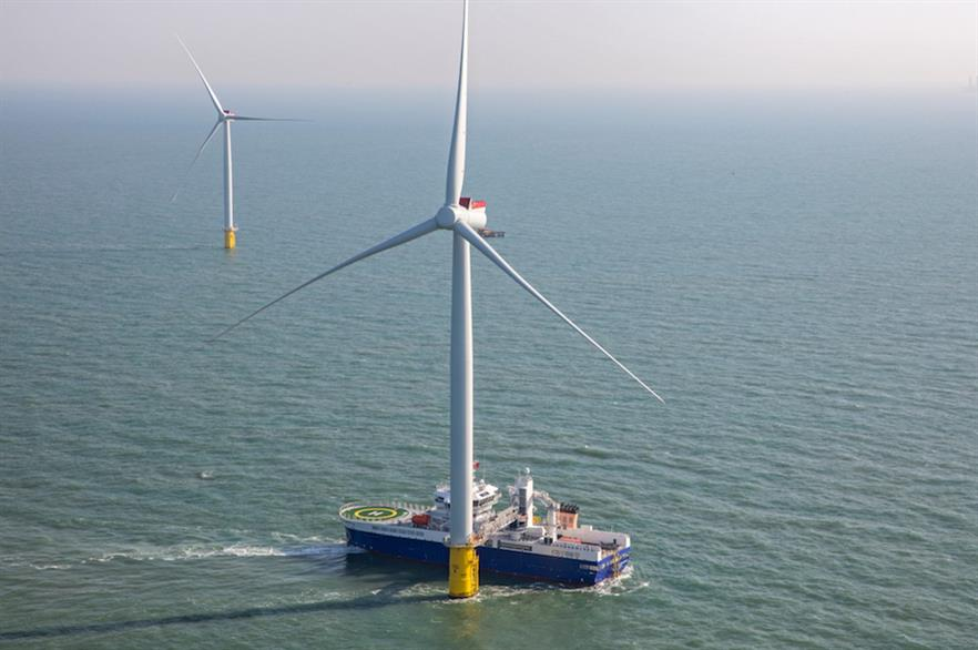 Macquarie's Green Investment Group has previously backed the 353MW Galloper wind farm (above) in UK waters (pic credit: RWE)