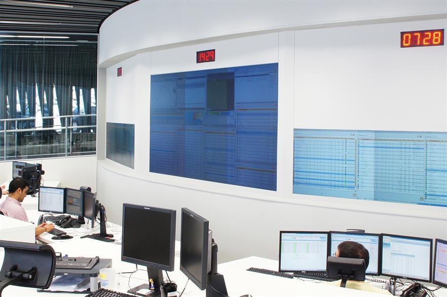 Gamesa's control center in Sarriguren, Spain