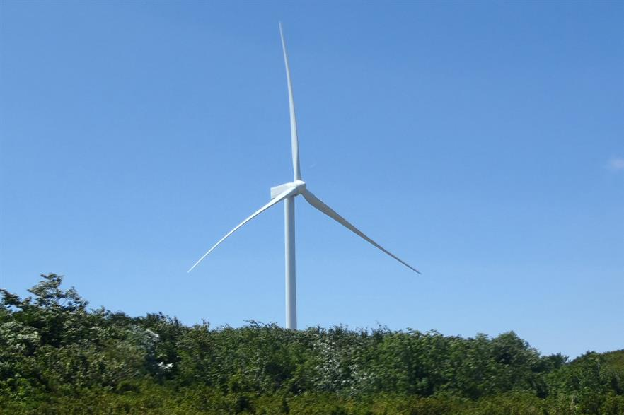 Gamesa's G114-2.5MW prototype turbine under testing in Alaiz, Spain