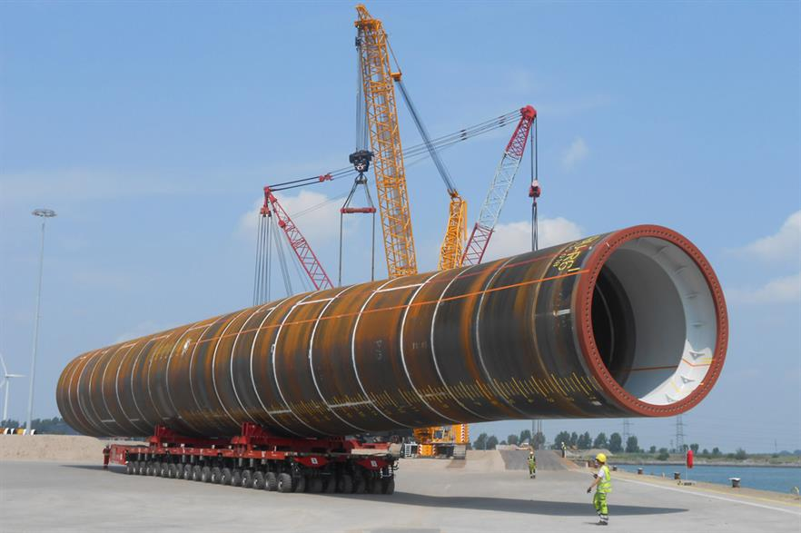 The first two monopiles for the Gemini project have been delivered