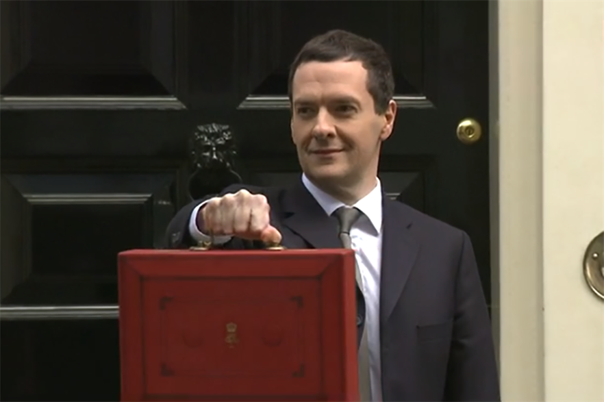 Chancellor of the exchequer George Osbourne presents the 2015 budget