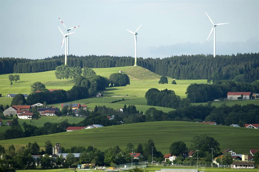 Bavaria has approximately 1.9GW of installed wind capacity