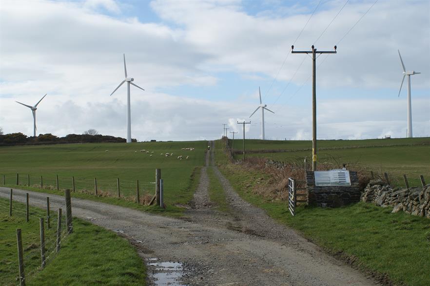 Gigha community wind project comprises three Vestas and one Enercon turbine