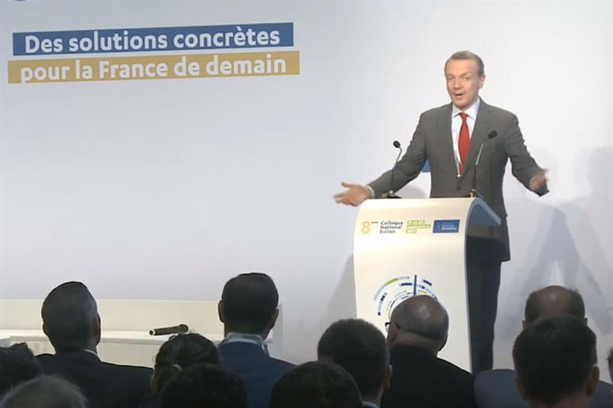 WindEurope CEO Giles Dickson speaking at the FEE's annual conference