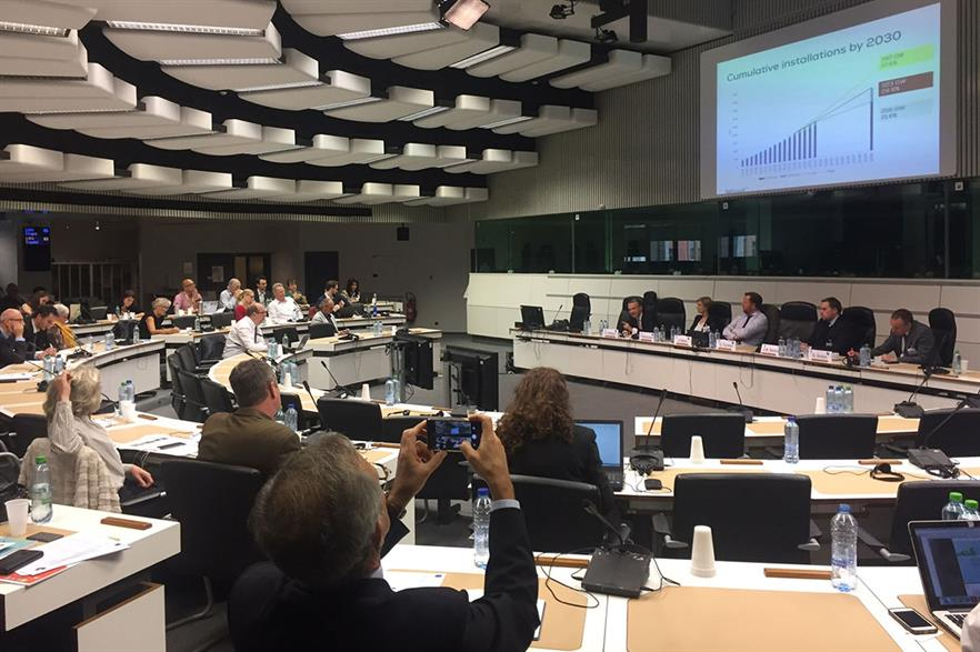 WindEurope CEO Giles Dickson speaks at the policy forum