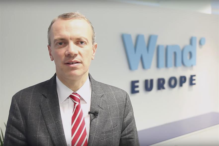 WindEurope CEO Giles Dickson called for governments to simplify permitting rules to help unlock wind investment