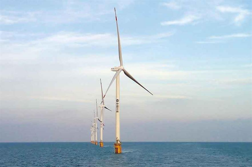 Diving in … China's offshore capacity is close to 3GW after the country added 1.2GW last year (pic: Goldwind)