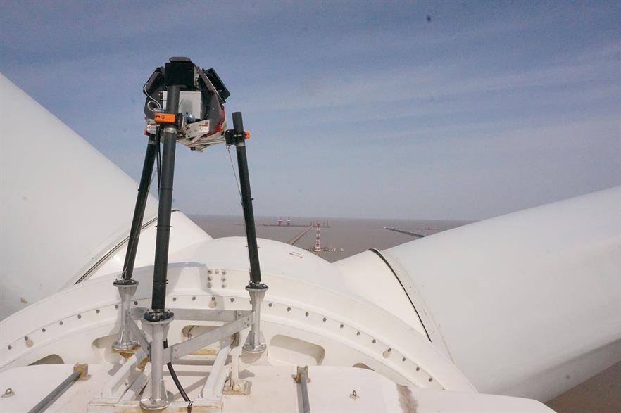 Zephir's lidar installed on Goldwind's 6MW prototype in China