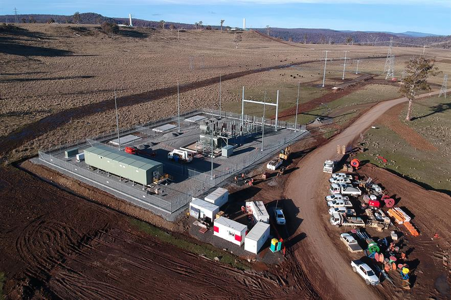Goldwind completed its Cattle Hill substation in late July
