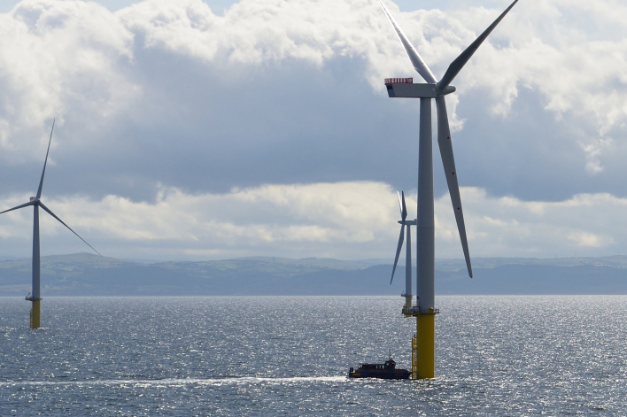 Innogy Renewables UK operates the Gwynt y Mor project off the North Wales coast