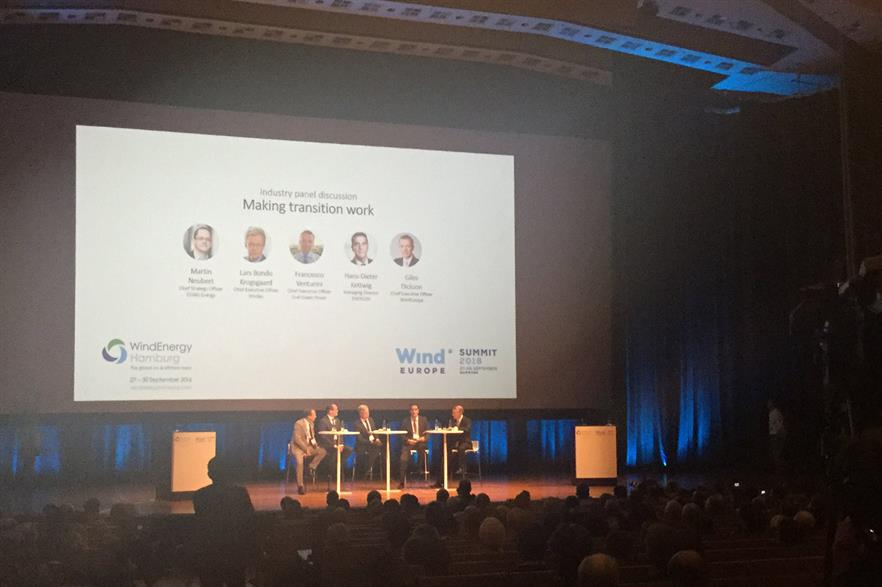 WindEurope's event ambassadors from Enercon, Nordex, Dong Energy and Enel Green Power in the opening session