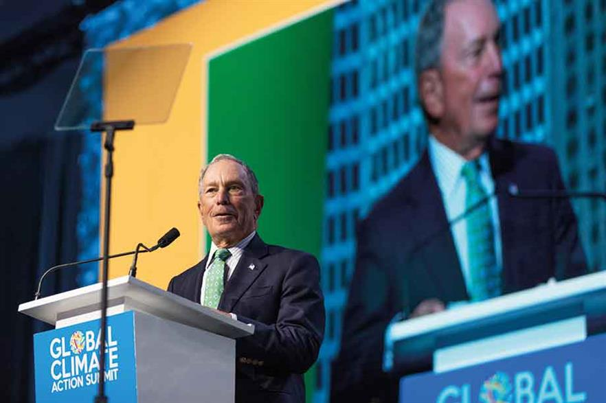 Former New York mayor Michael Bloomberg co-hosted the summit (pic: Chris Constantine/Alamy Stock Photo)