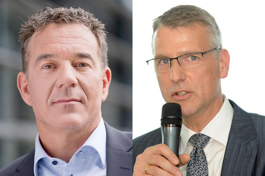 Michael Hannibal (left) will be replaced as SGRE offshore CEO by Andreas Nauen