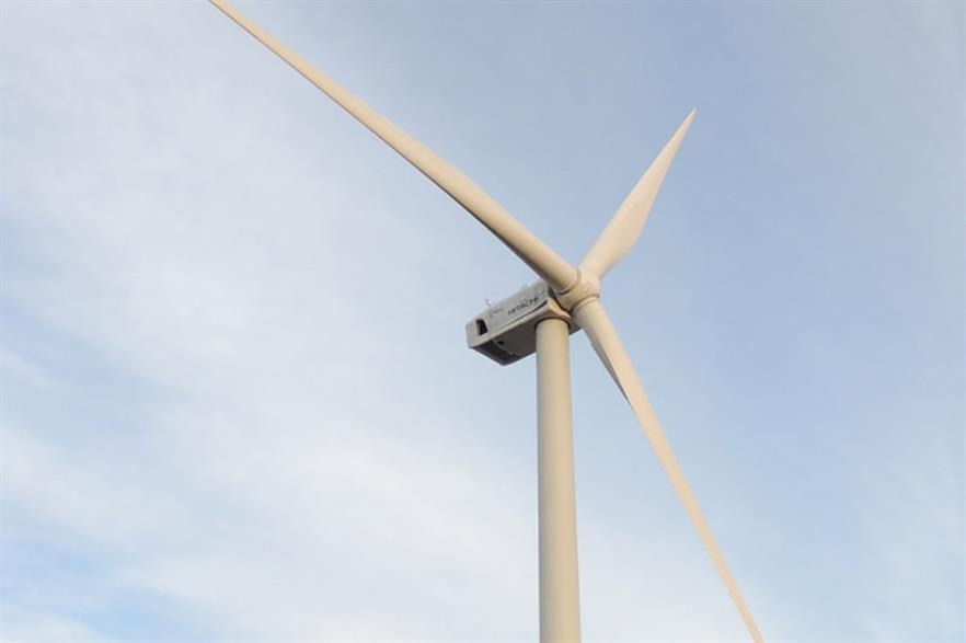 Hitachi's 5.2MW offshore turbine uses 66.5-metre blades supplied by LM Wind Power