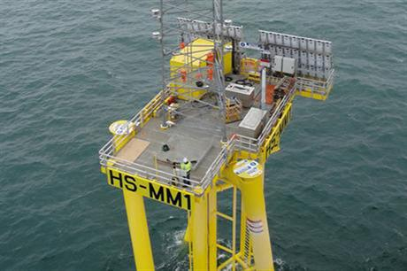 A meteorological mast has been installed in the Hornsea zone