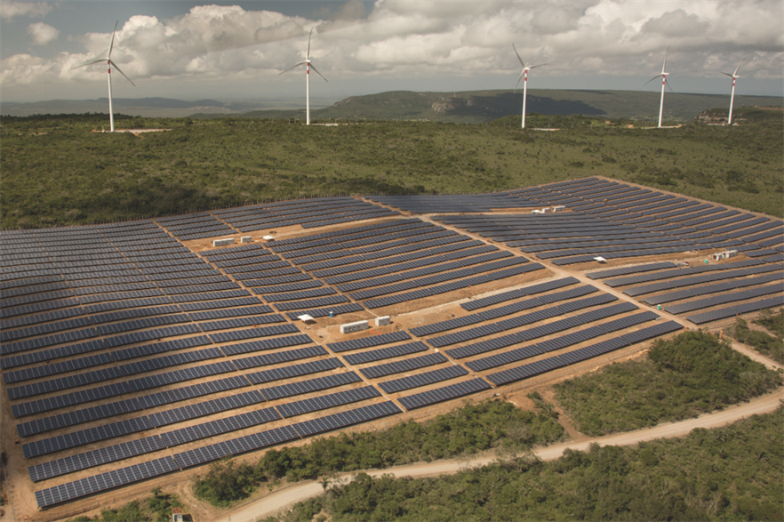 Countries such as Brazil already have big solar and wind hybrid projects. Omar's plans go further in scale and by adding green hydrogen production (pic: Enel)