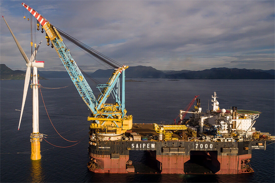 Saipem worked on the installation of Equinor's Hywind Scotland, the world's first commercial floating offshore wind farm