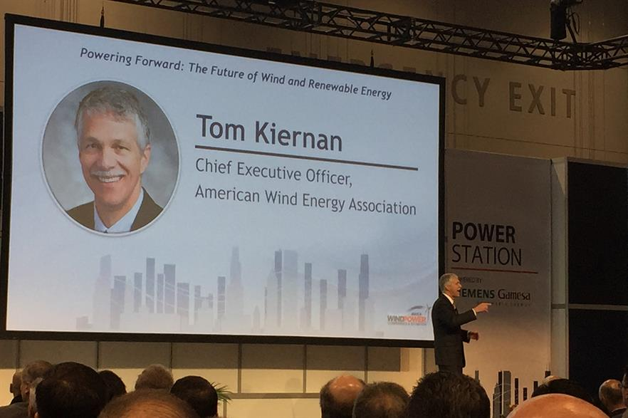 AWEA CEO Tom Kiernan addresses delegates at Windpower 2018