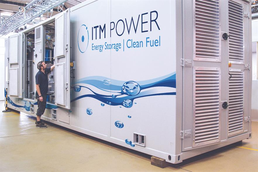 ITM Power will be responsible for developing the electrolysis system