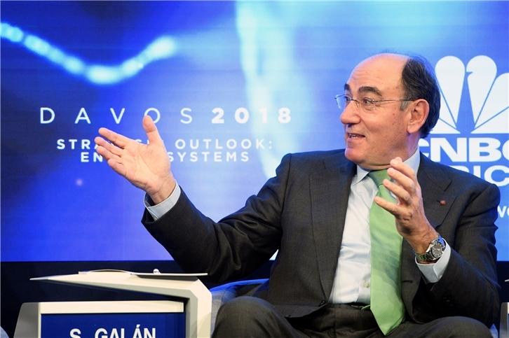 Iberdrola chairman Ignacio Galán at the World Economic Forum, in Davos, Switzerland (pic: Iberdrola)